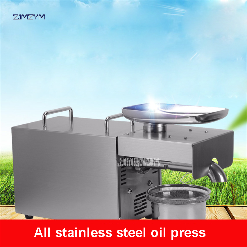 1PC RG-306 Automatic Oil Pressers Cold Press Peanut Soybean Oil High Oil Extraction Rate Stainless steel Household Oil Pressers cheaper price high efficiency oil commercial automatic peanut soybean mini oil press machine