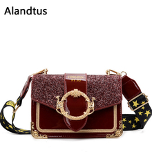 Alandtus Luxury Women Leather Shoulder Bag High Quality Fash