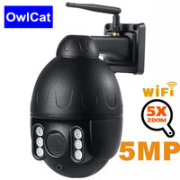 OwlCat Wireless WiFi IP Camera Outdoor PTZ 2.7 13.5mm Auto focus 5MP 2MP Auto Cruise with Microphone H.264 CCTV Security Camera