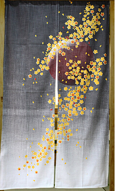 (Customized Size Accept) Korea/Japan/China Sushi Restaurant Kitchen Hanging Curtain-SUNSET(85x150cm)
