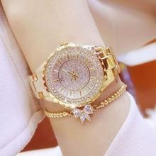 Women Watches New Luxury Brand Diamond Quartz Ladies Rose Gold Watch Stainless Steel Clock Dress Watch women relogio feminino цена и фото