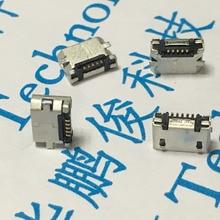 10PCS Micro USB 5P,5-Pin SMD SMT Micro USB Jack,5Pins Micro USB Connector Tail Charging Socket Flat Mouth