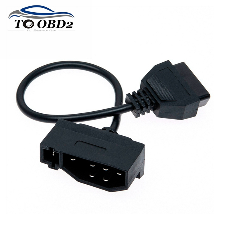 Auto Car Diagnostic Cable For Ford 7 <font><b>Pin</b></font> Male to <font><b>OBD2</b></font> <font><b>16</b></font> <font><b>Pin</b></font> <font><b>Female</b></font> Connector Adaptor Fits Ford 7Pin DLC Lead Transfer Converter image