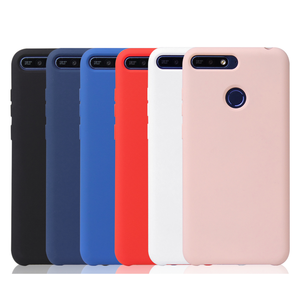 for honor 7A Pro For Huawei y6 Prime 2018 Enjoy 8eCase Matte Candy TPU Ultra Slim Soft Silicone Phone Cover For Huawei y6 Prime