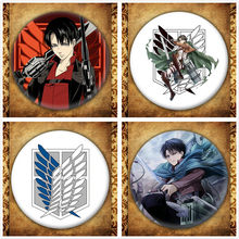 Anime Aanval Op Titan Display Badge Japanse Cartoon Figuur Eren Cosplay Broches Pin Collection Rugzakken Knop Kleding(China)