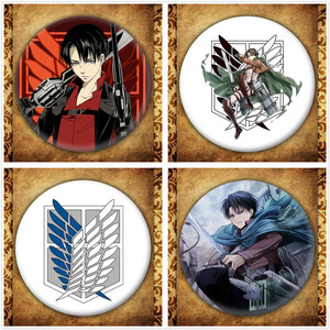 Anime Attack On Titan Display Badge Japanese Cartoon Figure Eren Cosplay Brooches Pin Collection Backpacks Button Clothes(China)
