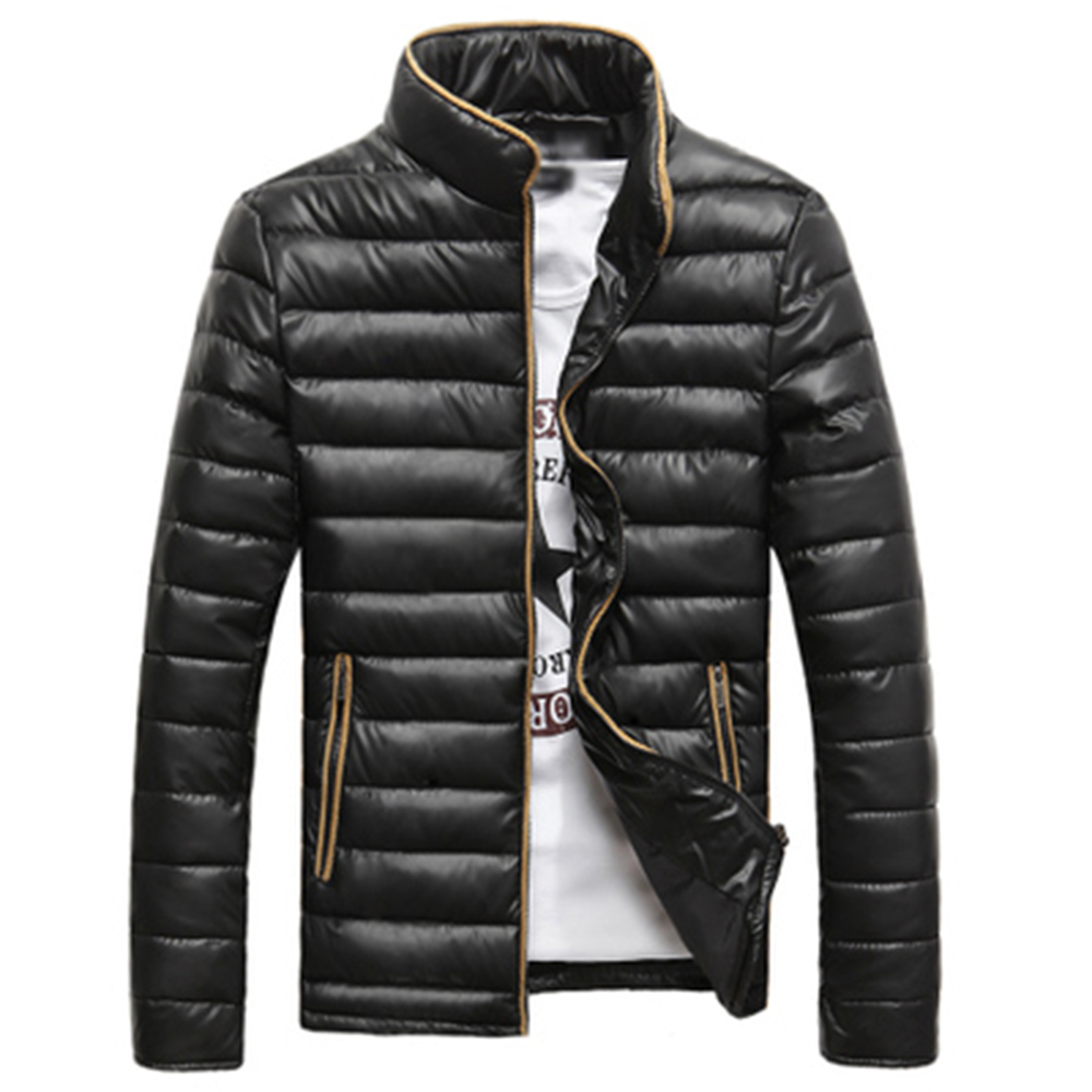 Men cotton padded jacket winter male wadded jacket male winter coats winter outerwear cotton padded jacket slim in Parkas from Men 39 s Clothing