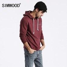 SIMWOOD di Felpe di colore solido degli uomini hoodies casuali 2020 new spring ricamato con cappuccio pullover jogging con cappuccio più il formato 180211