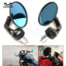 Universal Cafe Racer Motorcycle Handle Bar End Rear side mirror FOR Class Retro Honda suzuki yamaha kawasaki BMW DUCATI KTM ATV постельное белье сайлид комплект постельного белья b 144 p 1 5 спальный