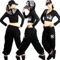 Пайетки марка хип-хоп женщины верхний танец джаз ds костюм производительность сексуальный сцена одежда короткая приталенный верхней одежды