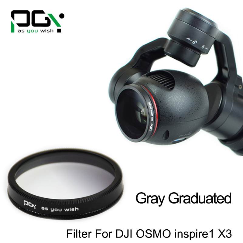 PGY DJI OSMO inspire1 X3 Gimbal Camera Gray Gradual color graduated filter Lens Gimbal Camera accessories UAV drone accessories