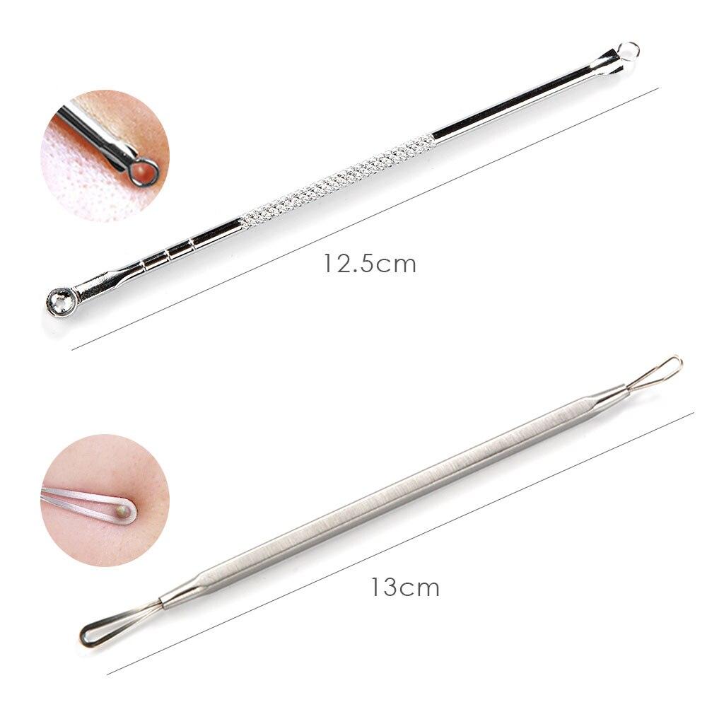7pcs Blackhead Remover Tool Black Spots Needles Pore Cleanser Vacum Comedone Pimple Blemish Extractor Beauty Acne