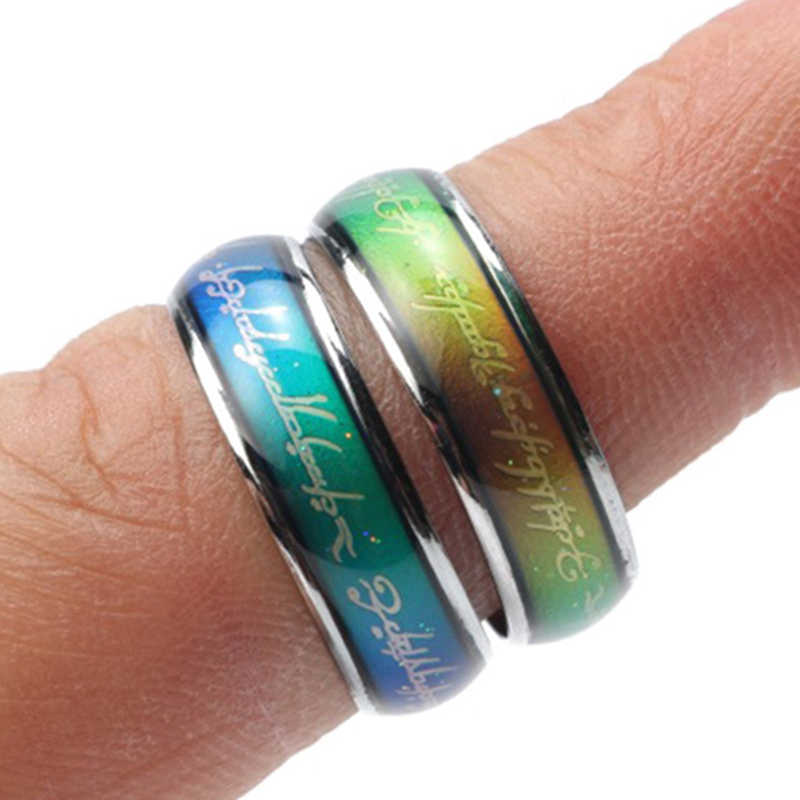 JUCHAO Mood Rings for Women Temperature change color Ring Men Mood Ring Woman Love Gift