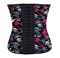 Leopard Skull Decoration Sexy Tight Corset Women Charming Show Rubber Body Sculpting Care Chest Vest