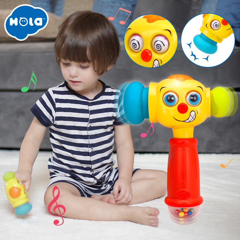 Niños Fun Electric Music Sound Play Hammer Educational Striking Toy - Educación y entrenamiento