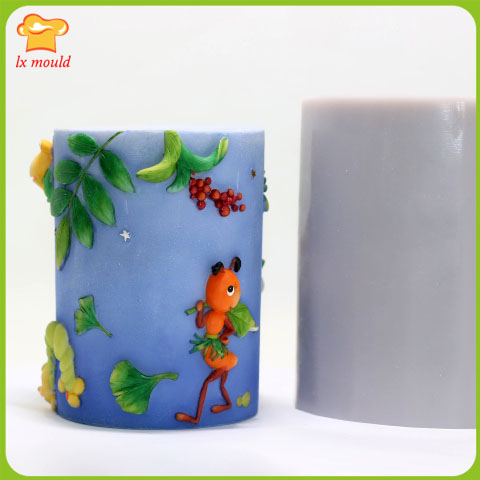 LXYY Cylindrical candle cartoon silicone mold / doll birthday candle - Kitchen, Dining and Bar - Photo 2