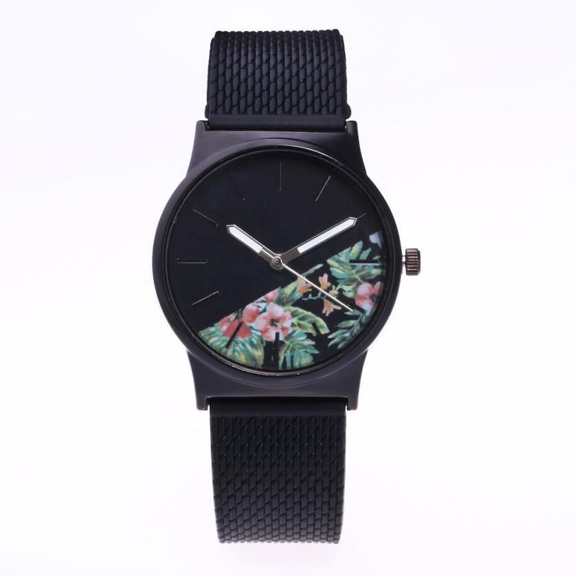 2017 New Womens Fashion Picture Design Silicone Band Analog Alloy Quartz Wrist Watch L7172 fashion lady s zinc alloy band quartz analog rhinestone waterproof wrist watch silver 1 x 377