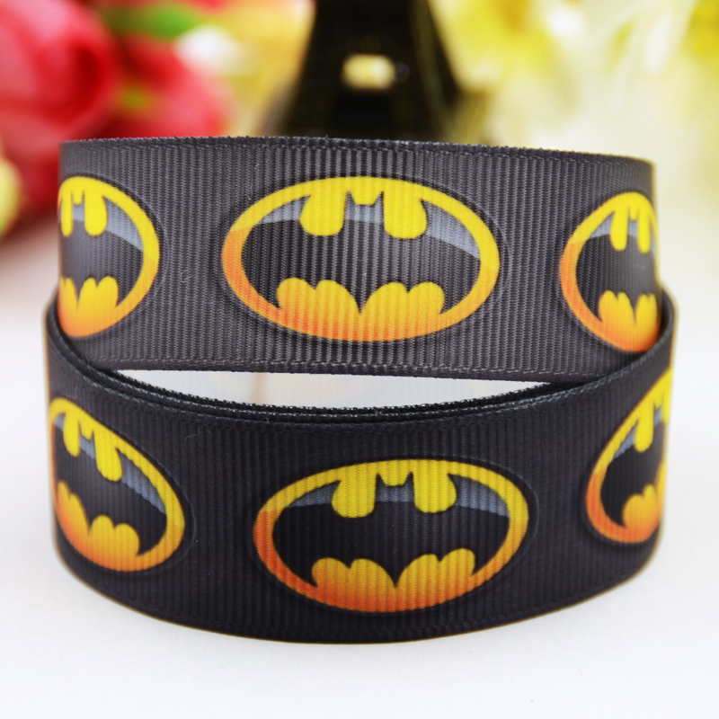 7/8 »(22 мм) Бэтмен с героями мультфильмов Grosgrain ленты украшение партии атласные ленты oem 10 метров X-00842