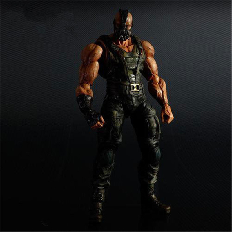 Playarts KAI The Dark Night Rises Batman Bane PVC Action Figure Collectible Model Boys Favorite Toys Superhero Doll 25cm