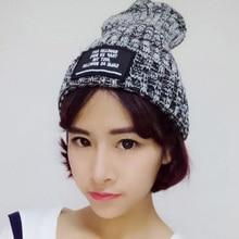 Fashion wool knitted winter hat for men women unisex solid hat elastic casual cap warm skullies beanie Bonnet sombrero 8zAA632