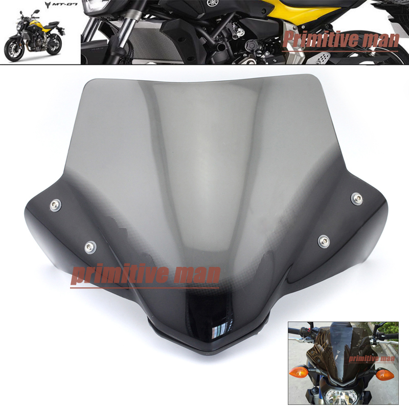 ФОТО For YAMAHA MT-07 MT07 FZ-07 2014 2015 2016 Windshield Windscreen Pare-brise