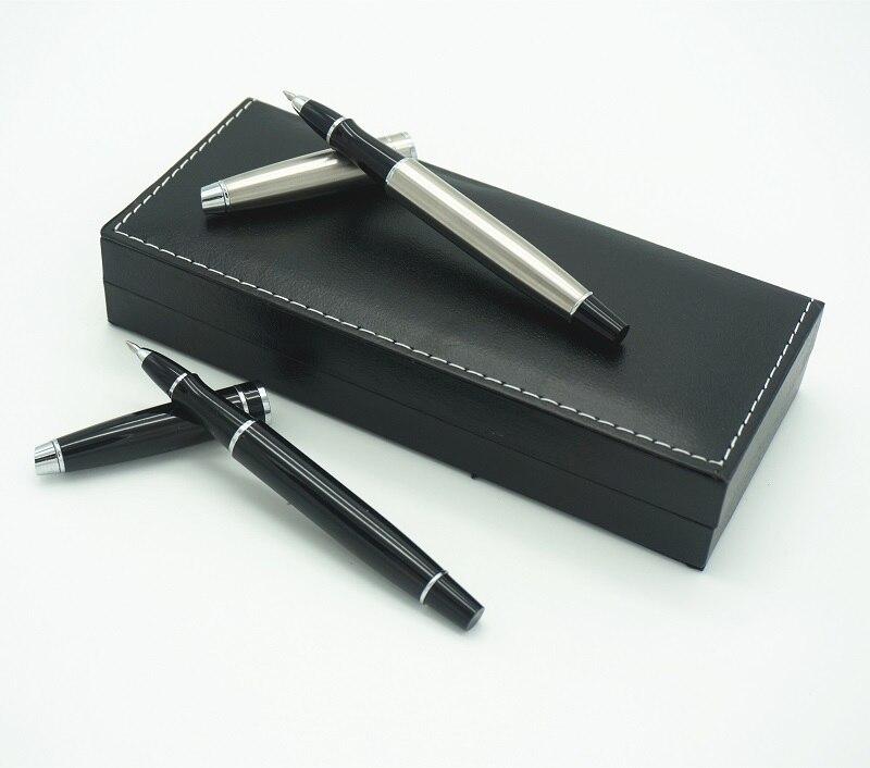 0.5mm Lyxig kulpenna Metallrulle Kulspenna för affärsmaterial Skolkontor användning Gratis frakt 2 färger tillgängliga