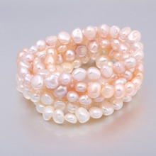 2018 High Quality 7-8 mm Freshwater Pearl Bracelets Natural Bracelet for Women