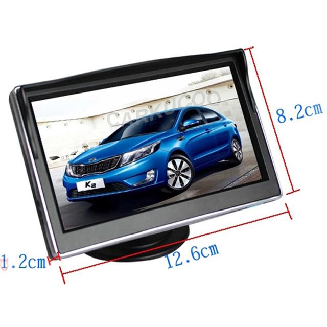 Mejor adecuado Monitor del coche para el coche que labra Dashboard colocación de 5 pulgadas TFT LCD Monitor para el coche cámara trasera inversa cámara de visión trasera