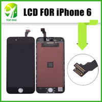 For IPhone 6 Black Front Screen Assembly Cracked Glass Good LCD Digitizer OEM Free DHL Shipping