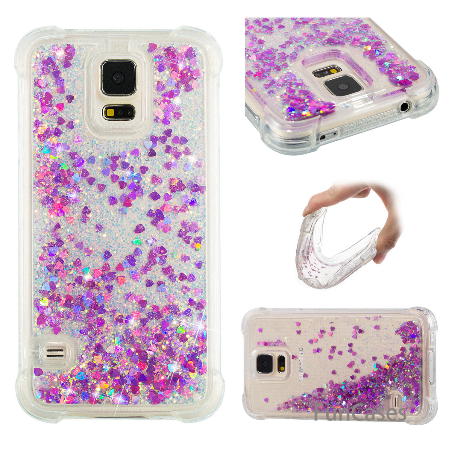 Pink Star Case sFor Capinha Samsung S5 Soft TPU Back Cover Csse Glossy Silicone Case sFor Samsung Galaxy i9600 G900F Phonet Joli ...
