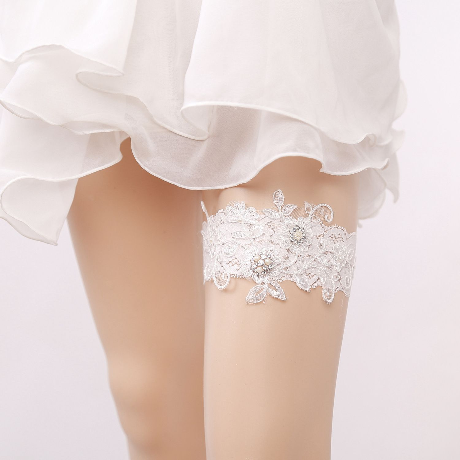 Underwear & Sleepwears White Lace Flower Gtglad New Sexy Hot Bride Wedding Garter Lace Prom Get Garters For Women/female/bride Thigh Ring Bridal Leg Cheapest Price From Our Site Women's Intimates
