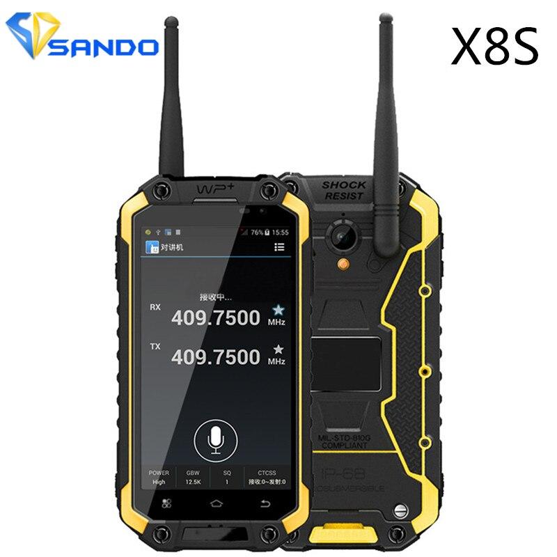 Original Xeno X8S IP68 Waterproof Shockproof Mobile Phone MTK6582 Quad Core 8MP 3600mah WCDMA PTT NFC