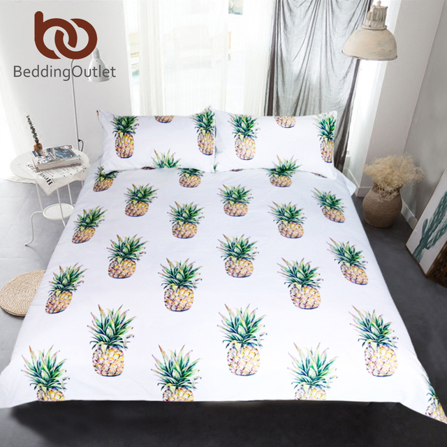 BeddingOutlet 3d Ananas Bettwäsche Set Tropical Fruit Print ...