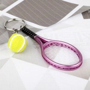 Креативная Милая Спортивная Теннисная ракетка, 6 цветов, модель брелка, забавная боулинговая ракетка, для женщин, которым нравятся спортивн...