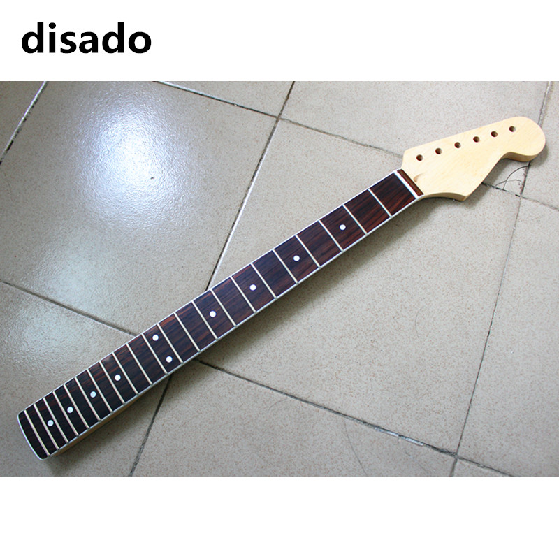 disado 22 Frets maple Electric Guitar Neck rosewood fretboard glossy paint wood color guitar parts accessories