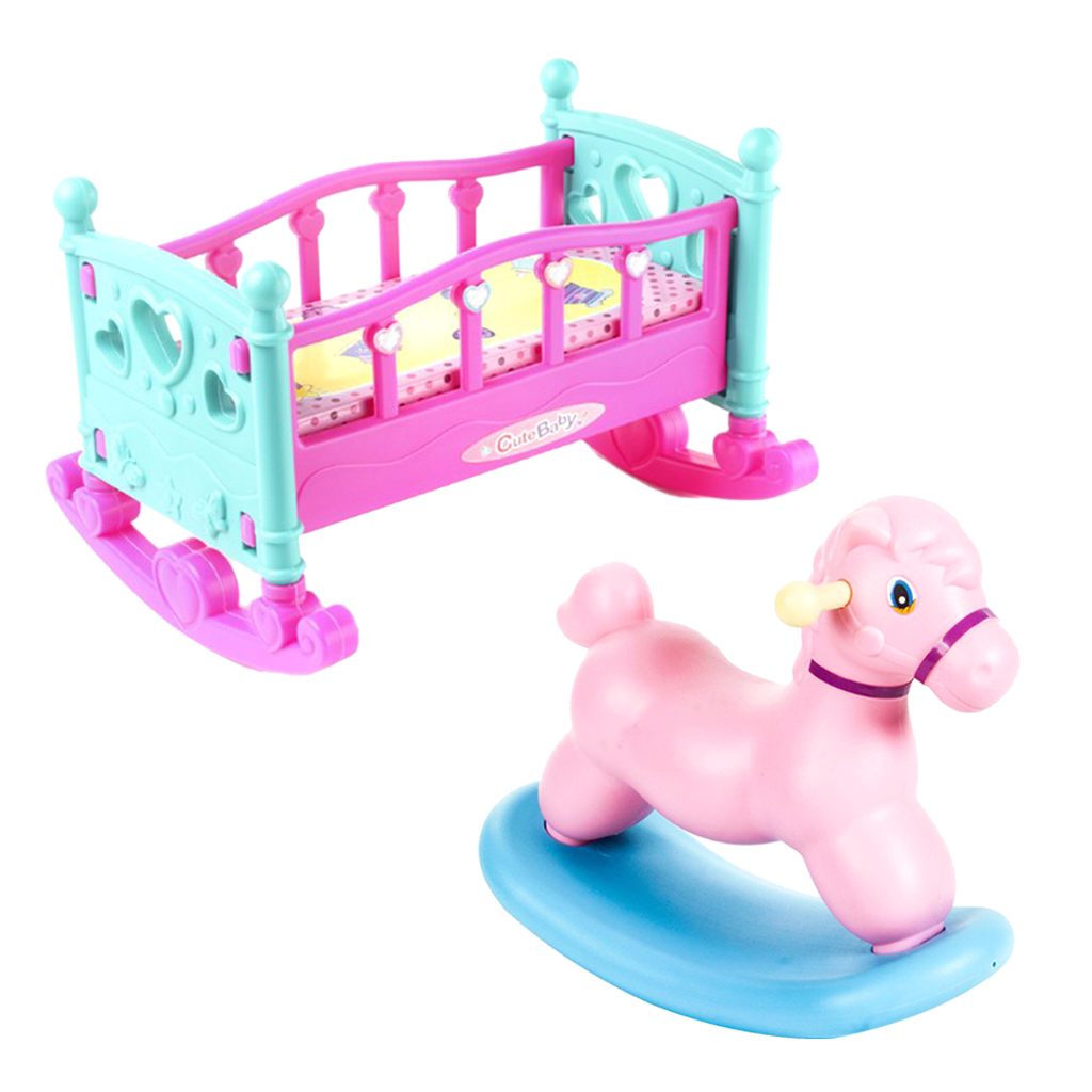 2PCS Miniature Collectible Furniture Baby Doll Furniture Playset for Dolls