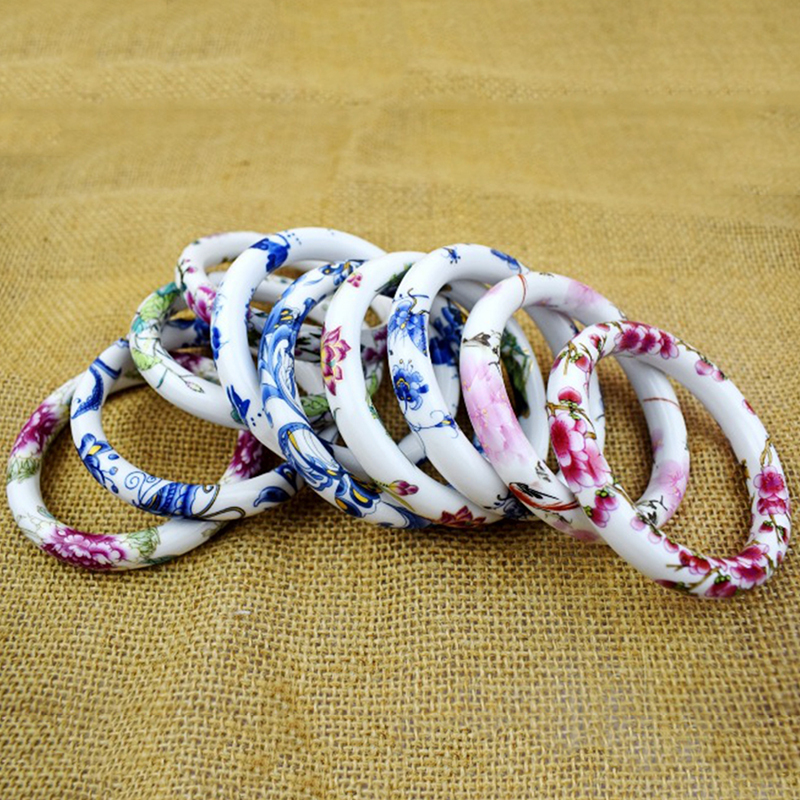 MISANANRYNE Bangles For Women Hot Selling Jewelry Blue And White Pastel Handmade Bangles National Style Gift Nice Shipping