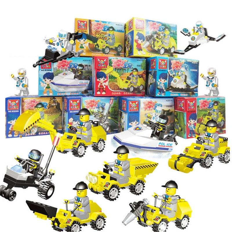 1 Stks Techniek Vrachtwagen Bouwstenen Set Speelgoed Auto Stad Bouw Enlighten Speelgoed Planeet Exploratie Kids Gift