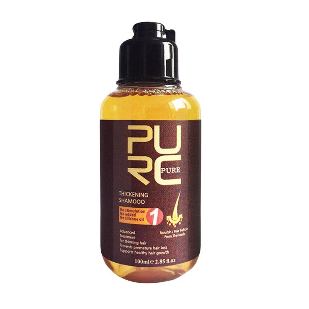 PURC 100 ml Herbal Ginger Hair Shampoo Essence Treatment For Hair Loss Help Regrowth Hot New серум за растеж на мигли