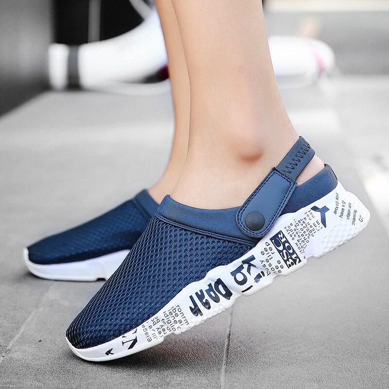 Sandals Men Slippers Air Mesh Shoes Mules Clogs (39)