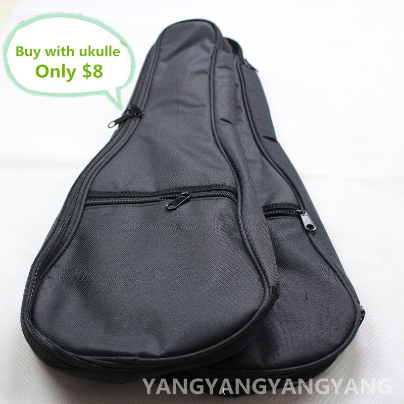 Ukulele Bag Case Backpack 21 23 26 Inch Soprano Concert Tenor Ukelele Black Mini Guitar Accessories Parts Carry Back Soft Gig купить
