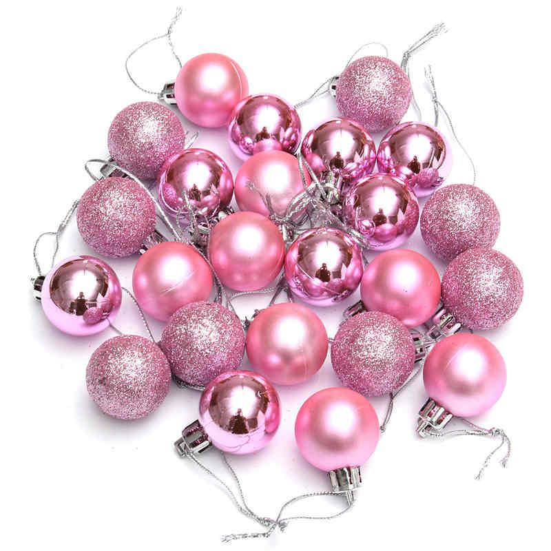 24 шт./компл. Новое поступление блестящие шикарные рождественские платье, платье на день рождения, свадебное платье, платье на фенечки поздравительная открытка Рождества вечерние домашний декор год 11 Цвета - Цвет: Pink