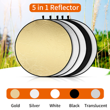 SUPON 80cm 5 In1 Reflector Collapsible Photography Light reflective screen for Studio Multi Photo Disc Diffuers acessorio