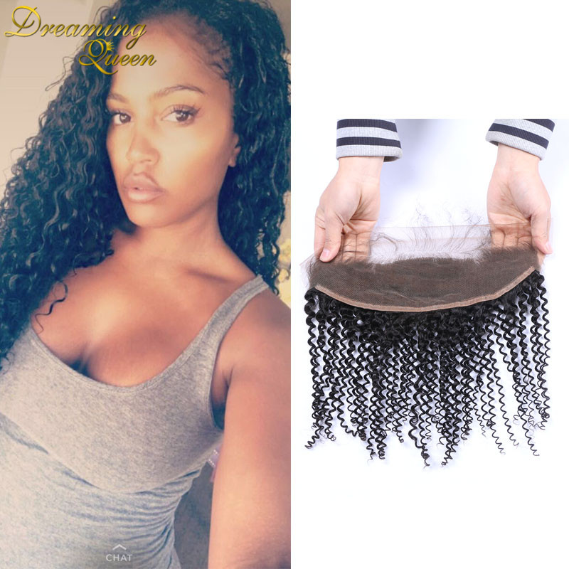 Top Afro Kinky Curly Frontal Closure With Baby Hair Brazilian Virgin Hair Kinky Curly Ear To Ear Lace Frontals for Black Women все для кухни