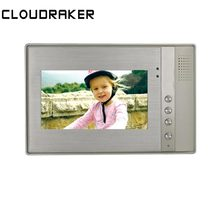 CLOUDRAKER 7 inch Indoor Monitor Video Door Phone Doorbell Intercom System  Unlock Wall Mounting