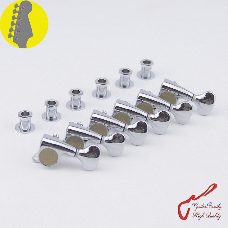 1 Set Original Genuine 6 In-line GOTOH SGS510Z-S5 Guitar Machine Heads Tuners ( Chrome ) цена