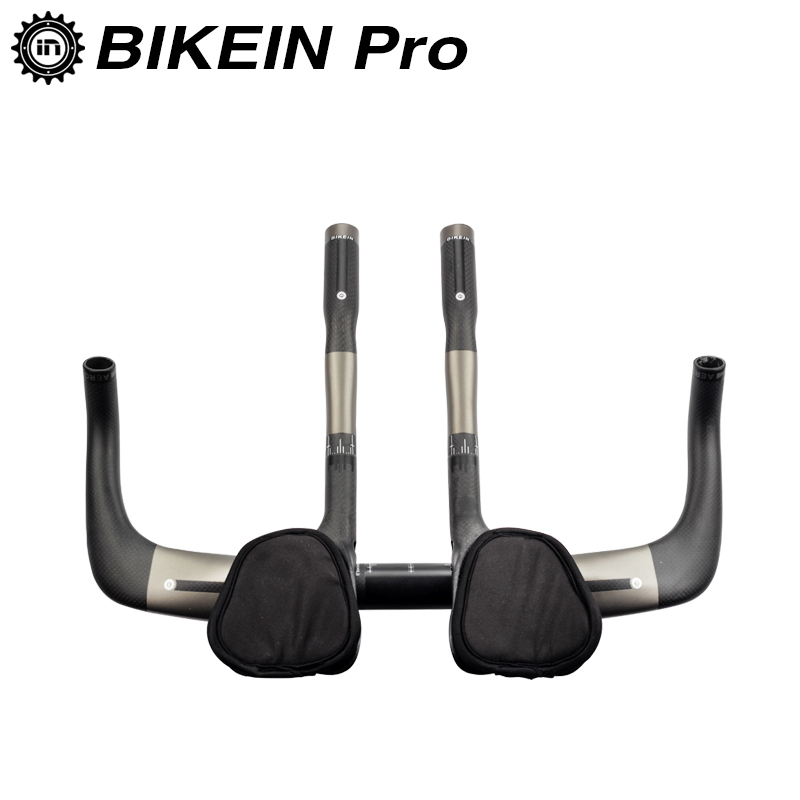 BIKEIN Full 3k Carbon Cycling Road Bike Triathlon Aero Bar 380/400/420/440mm + TT Rest Handlebars Bicycle Parts Ultralight 475g bikein full ud carbon cycling road bike handlebar 400 420 440mm triathlon bicycle parts ultralight drop bar matte black 280g