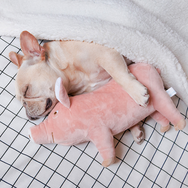 Plush Dog Toy Pig Sleeping Partner French Bulldog Toy Pink Pig Dog Toy  Pet Estrus Toys  Puppy Cat Products Pets Supplies