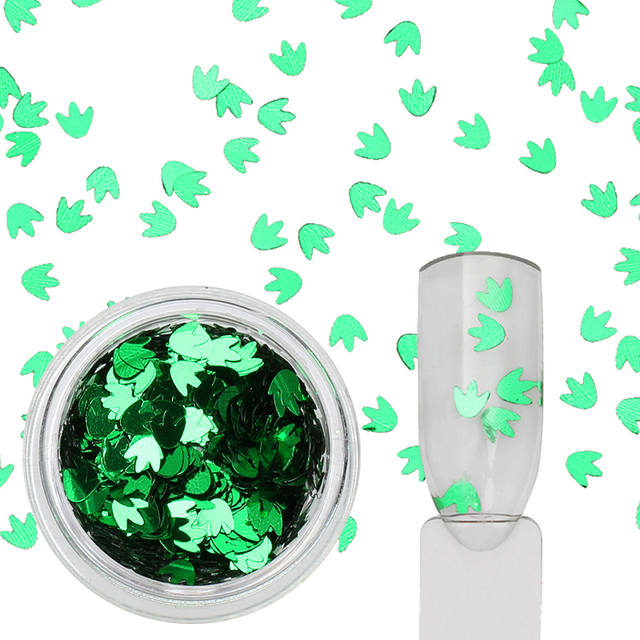 12 Boxes Maple Leaf Glitter Paillette Ultra-thin Colorful Nail Sequins Manicure Nail Art Decoration