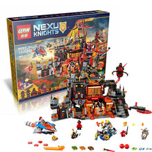 1244Pcs 2016 New LEPIN 14019 Nexoe Knights Jestros Vulkanfestung Model Building Kit Minifigure Blocks Brick Toy Compatible